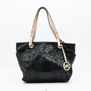 MICHAEL KORS Python Embossed Leather Handbag Tote